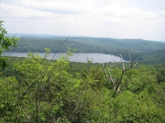 Sterling Forest State Park: Sterling Lake seen from Sterling Ridge