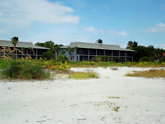 Sanibel Inn: our room from beach