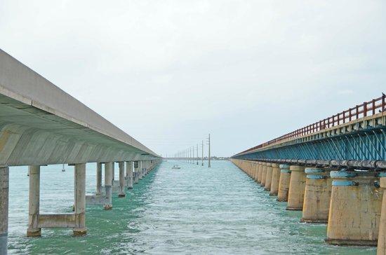 Pigeon Key: New bridge and old