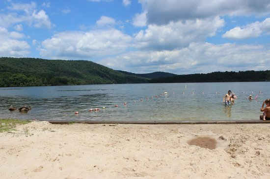Lake Raystown Resort, an RVC Outdoor Destination: Campers beach