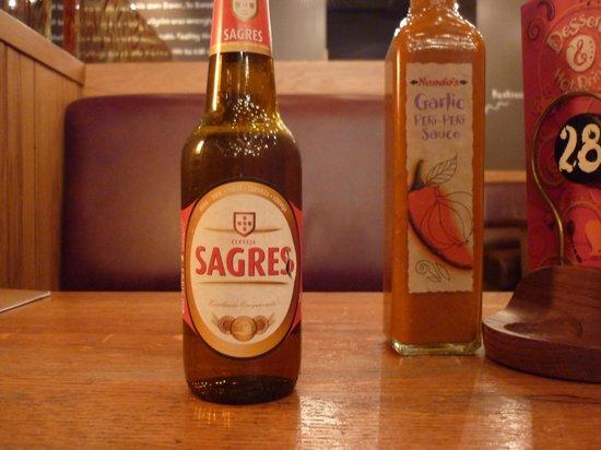 Nando's: Sagres, Portuguese beer