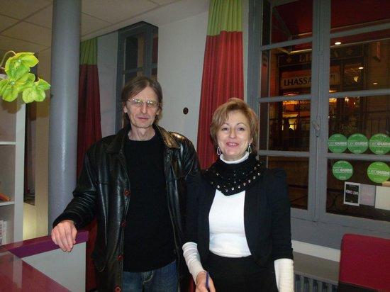 Hotel du Commerce: Milano y Beatriz, excelentes anfitriones