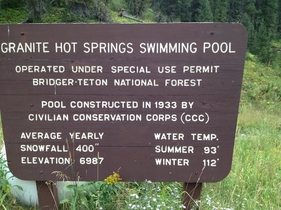 Granite Hot Springs: sign