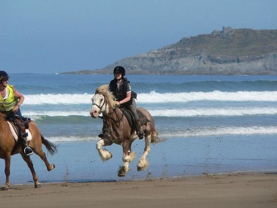 Mullacott Equestrian Centre: Beach rides £55 per person