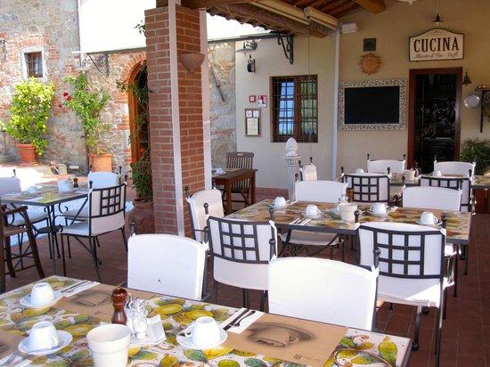La Piana : Frühstücksterasse