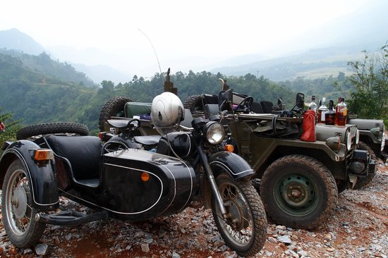 Cuong Motorbike Adventure: Ural Sidecar, USA Jeep tour!
