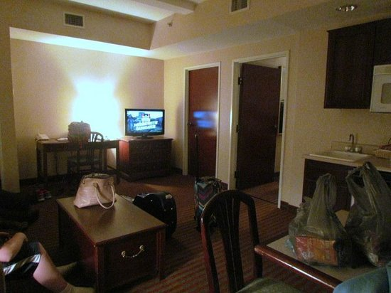 Comfort Suites: view as you walk into the suite.