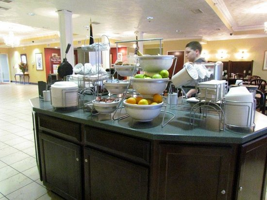 Comfort Suites: closer look at waffle,and sweets area