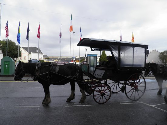 Killarney Towers Hotel & Leisure Centre: Horse drawn carriage ride outside hotel to Killarney National Park