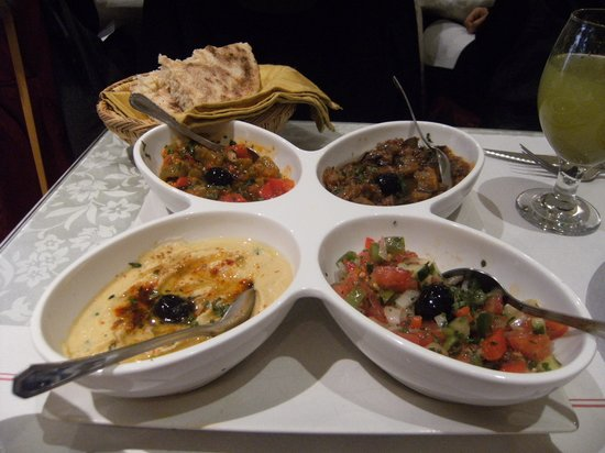 Restaurante Arrayanes: Degustación de entrantes
