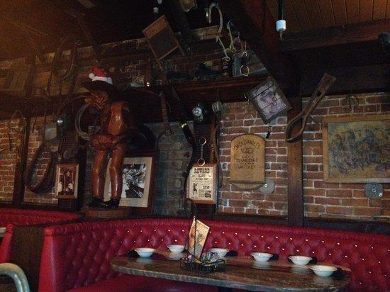 A J Spurs Saloon & Dining Hall: Fun decor