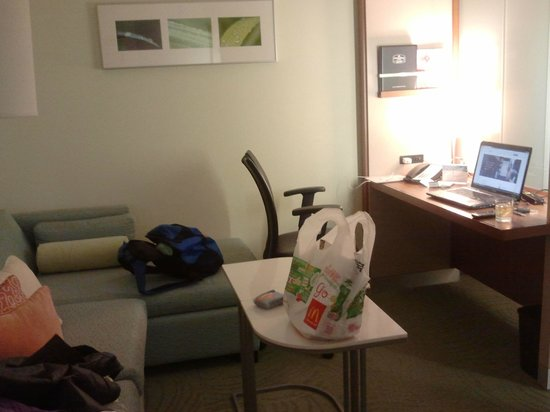 SpringHill Suites Charlotte Ballantyne Area: The Den: Perfect For Work With Free High-Speed Wi-Fi