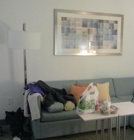 SpringHill Suites Charlotte Ballantyne Area : Spacious & Comfy Couch in Den