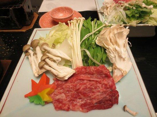 Shisuitei: 台物(上州牛しゃぶしゃぶ)