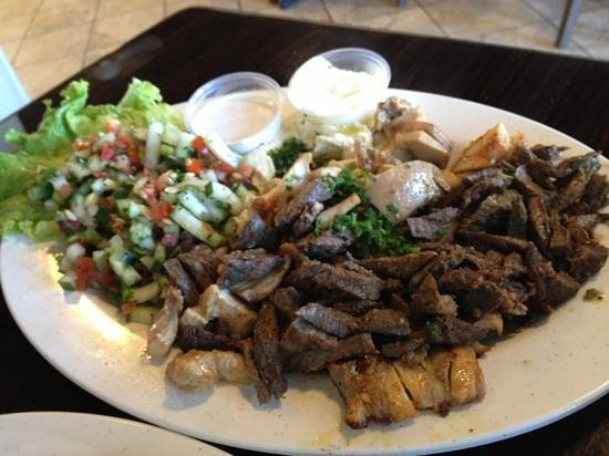 Ameer's Mediterranean Grill: Beef and Chicken Shawarma