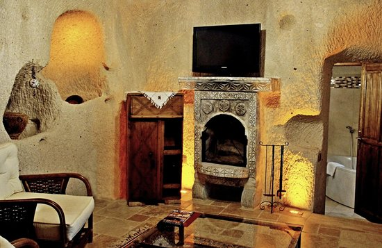 "Cappadocia Cave Suites: Some of the decor of our ""cave."""