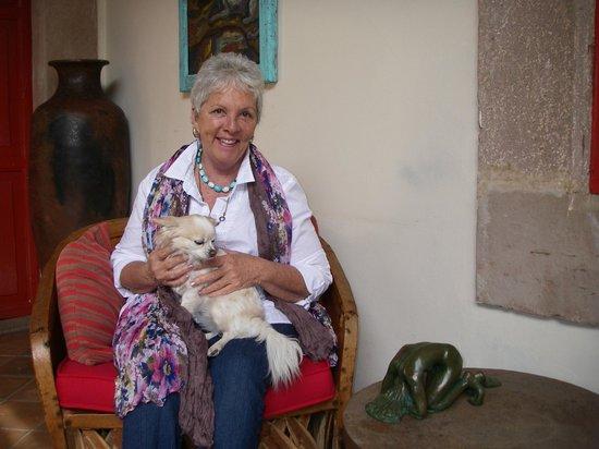 Hotel Casa Encantada : Gracious host and owner, Victoria