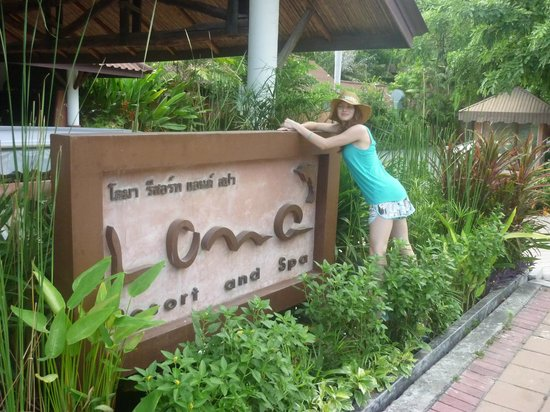 Loma Resort & Spa : Такой вывеской отель встречает посетителей