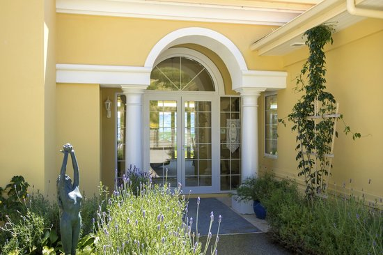 Chateau Mont Clair: Front Entrance and Garden