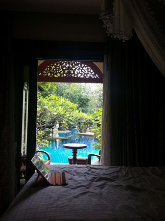 Khum Phaya Resort & Spa, Centara Boutique Collection: view from room, pool bar end of pool