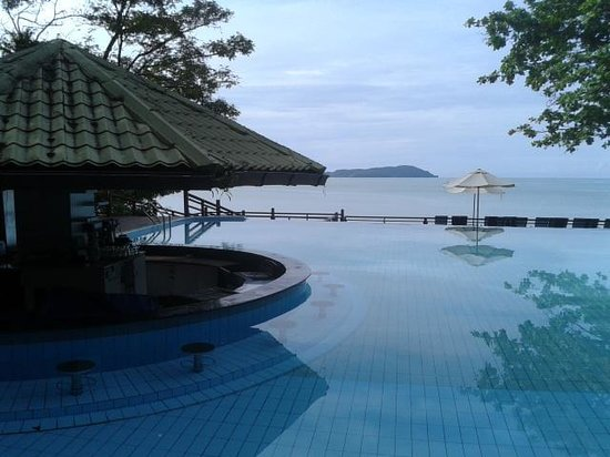 Century Langkawi Beach Resort: the pool view directly to sea
