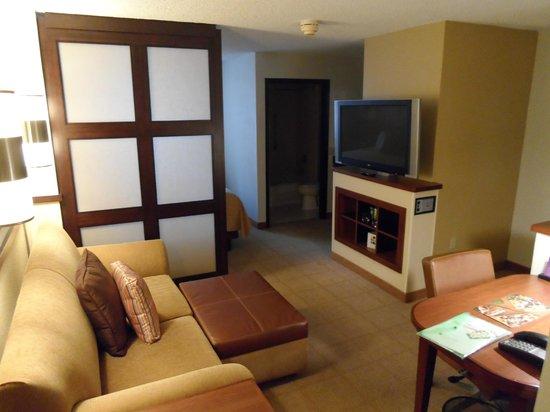 Hyatt Place Fort Lauderdale / Plantation: Living area of the room