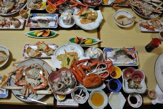 Minshuku Matsuya : 蟹三昧の夕食でした!