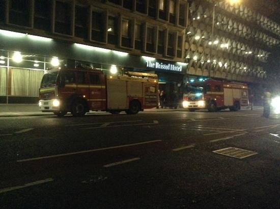 The Bristol : 0530 hrs after the drunken false fire alarm fiasco