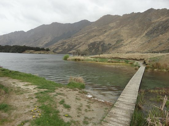 Moke Lake: Start of the track around the lake
