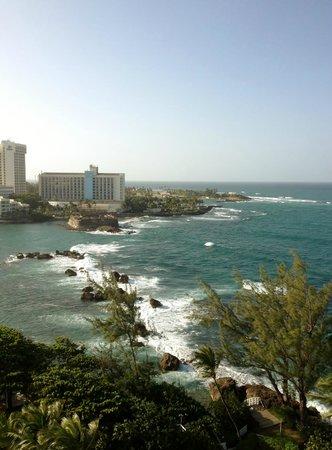 The Condado Plaza Hilton: View looking towards Old San Juan