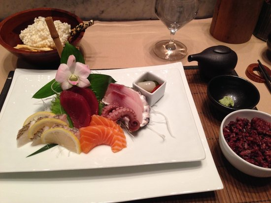 Masaki: The Sashimi Lunch, first item on the menu