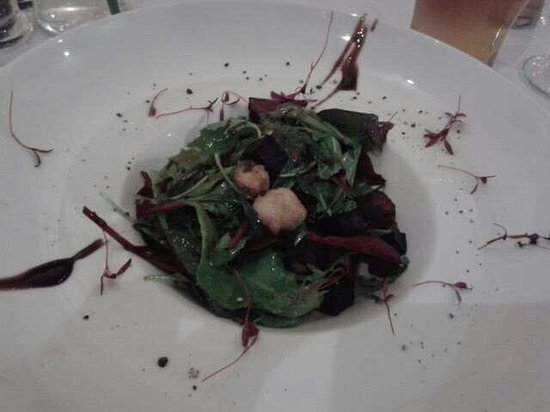 The Bay Horse: Warm Black Pudding salad with Chorizo and Scallops.