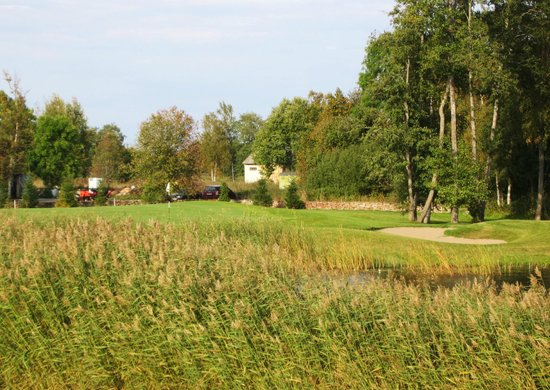 Manniva, Estonia: 12th short par 4 approach view