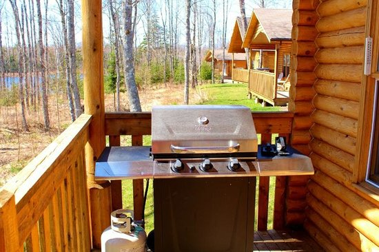 Irwin Lake Chalet: Each cottage has a barbeque!