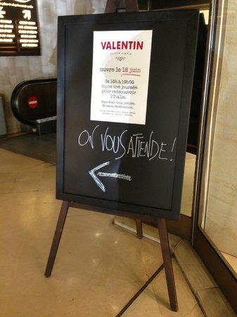 Valentin : Si consiglia di seguire l'invito...