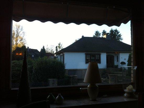 Hotel Bienefeld: Outside view from breakfast room