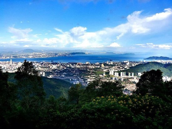 The beautiful view from the top of Penang hill.