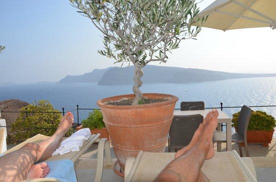 Esperas Santorini : Vue terrasse/piscine