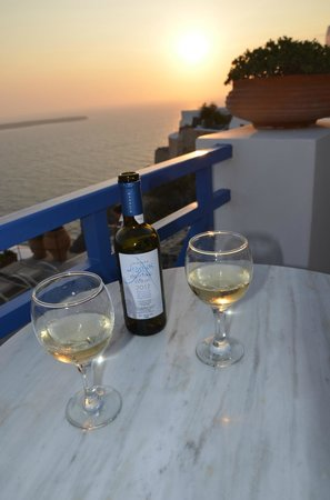 Esperas Santorini : Vue chambre coucher de solleil