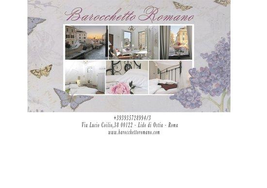B&B Barocchetto Romano: Welcome Card