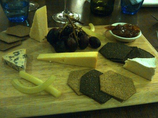 Boathouse Hotel: Cheese board - fantastic !
