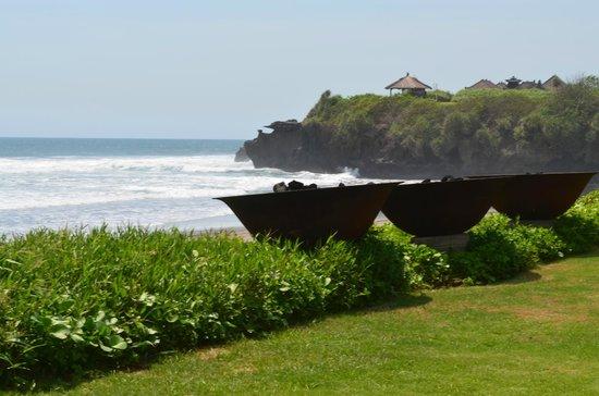 Soori Bali: Blick vom Strand auf Halbinsel