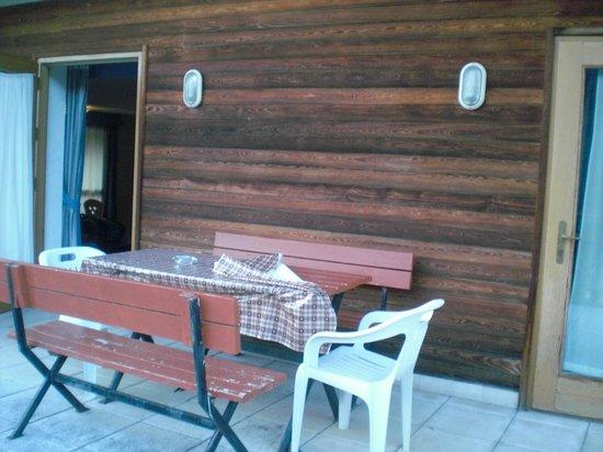 Hotel Garni Enrosadira : terrazzo