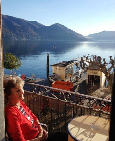 Piazza Ascona Hotel & Restaurants : Seesicht im Abendlicht