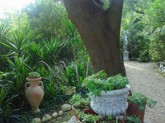 Un scorcio con anfore e statue foto di parco giardino - Statue giardino ...