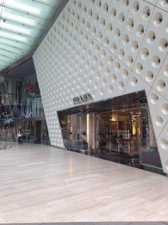 The Ritz-Carlton Shanghai, Pudong: IFC Mall  - looking at the stylish Prada entrance