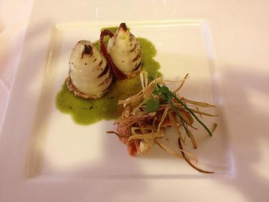PS Ristorante: calamari con pappa al pomodoro