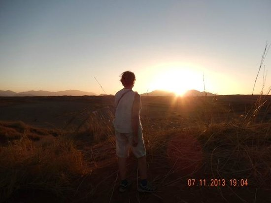 Wolwedans Dune Camp: al calar del sole