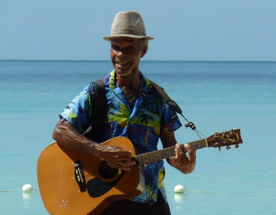 Grand Pineapple Beach Negril: One of the excellent beach buskers