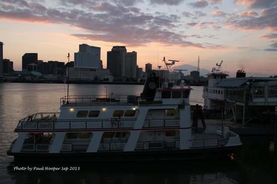 House of the Rising Sun Bed and Breakfast : Algiers Point Ferry view to Canal St Terminal New Orleans